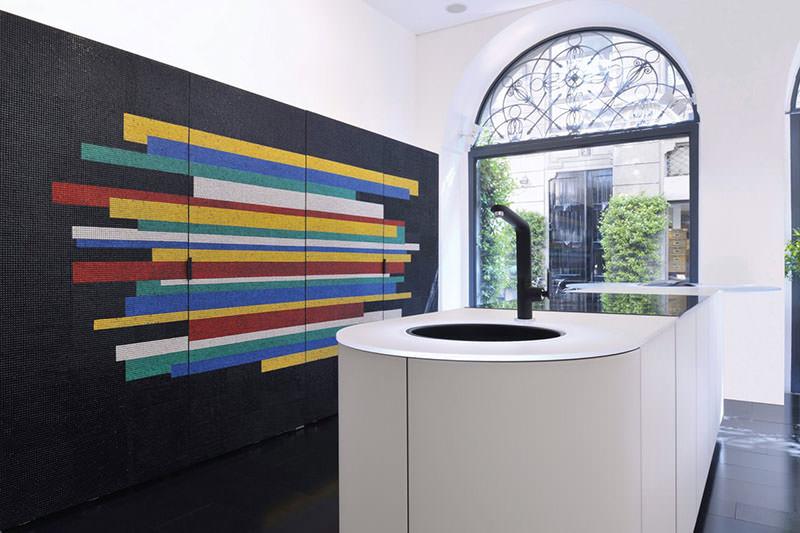 Colorful Mosaic Italian Kitchen Argento at Milan Design Week