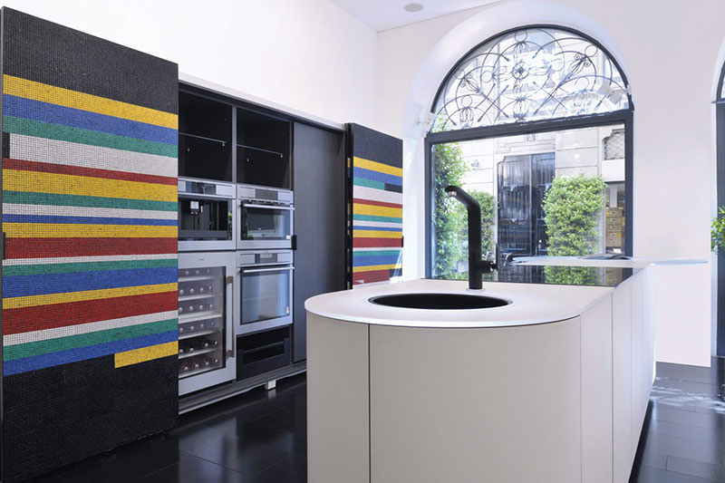 Colorful Mosaic Kitchen Argento by GD Cucine