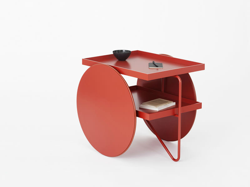 Chariot Side Table with wheels