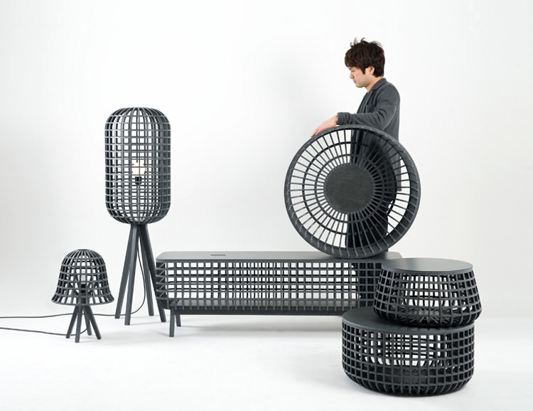 Dami Furniture and Lighting series by Seung Yong Song