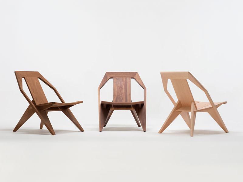 MEDICI Reclined Wooden Chair