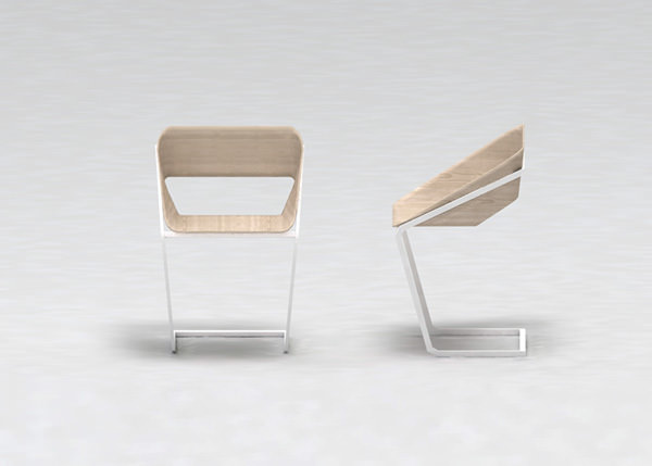 Normal Wood and Metal Chair by Stefano Merlo