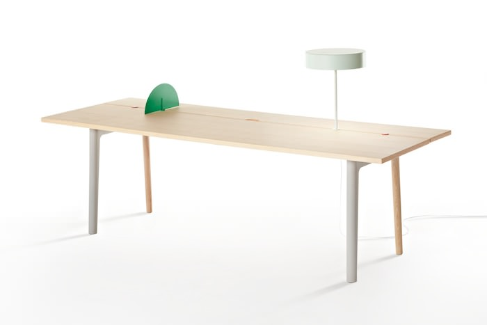 Offset Home Office Table System by Tomás Alonso