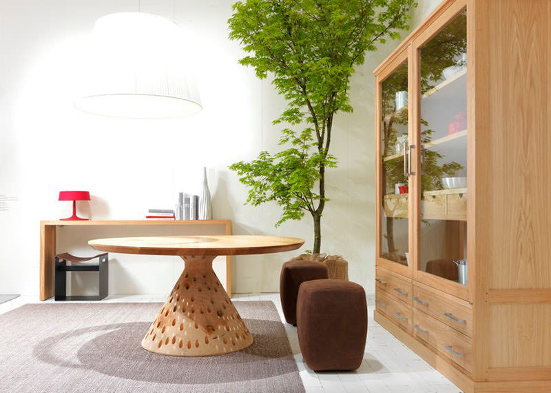 Seven Days Wooden Kitchen Dining Table