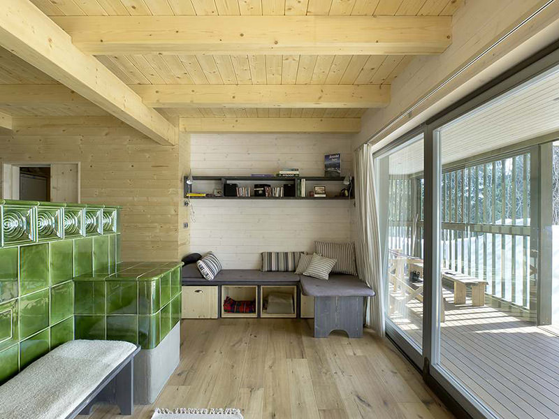 House on the Marsh Living Room by A1 Architects