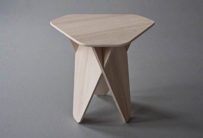 Wedge Side Table by Andreas Kowalewski