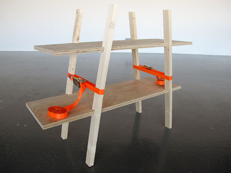 Movable Presence Flat-pack Bookcase by Naty Moskovich