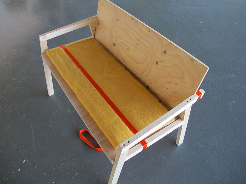Movable Presence Flat-pack Sofa by Naty Moskovich