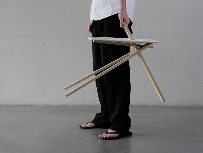 Tripod Side Table by Noon Studio