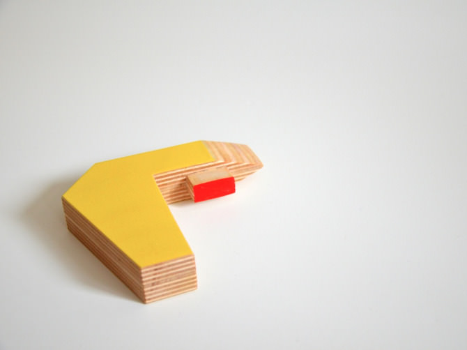 Asterisk Puzzle Stool for Children by Christina Sicoli