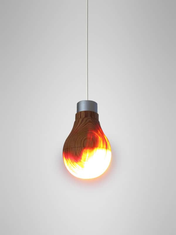 Wooden Light Bulb by Ryosuke Fukusada