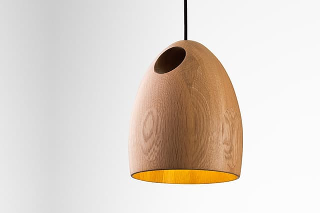 Oak Pendant Lamp by Ross Gardam
