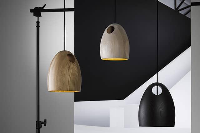Oak Pendant Lamp by Ross Gardam