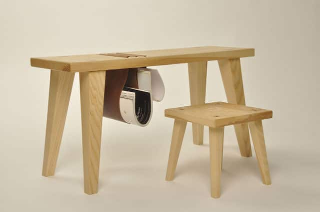 Cow and Calf Desk and Stool by Oscar Medley-Whitfield