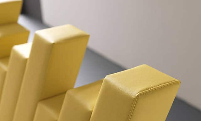 Yellow Cubed Bed by Francesca Paduano for Bolzan Letti