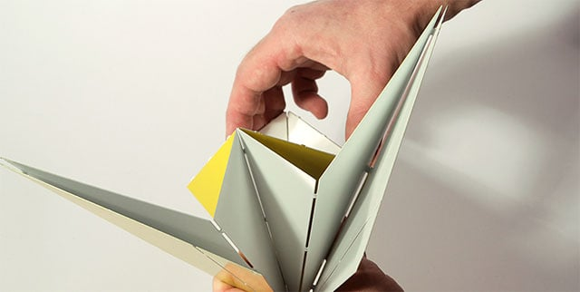Origami Folded Metal Table Lamp by Mirco Kirsch