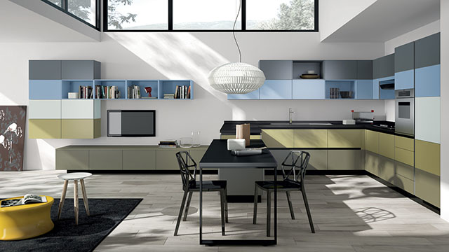 Tetrix Modular Kitchen by Michael Young for Scavolini