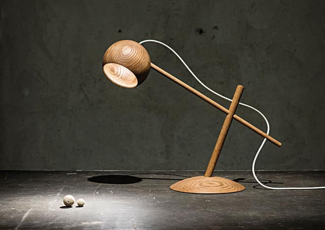 Oo Wooden Desk Lamp by Sverre Uhnger