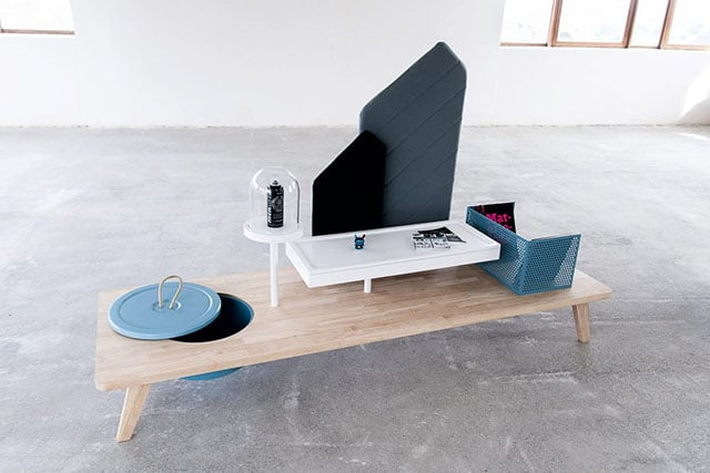 Curiosity Table by Jonathan Honvoh and Rodrigue Strouwen