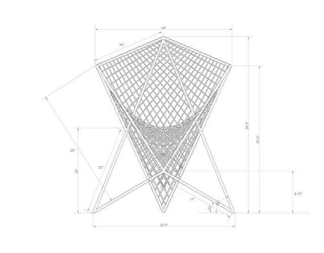 Parabola Chair by Carlo Aiello