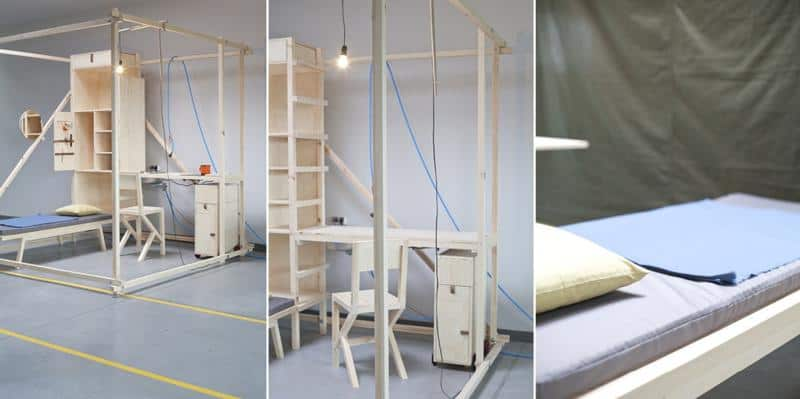 2,5³ Minimal Living Cube by Ania Rosinke and Maciej Chmara