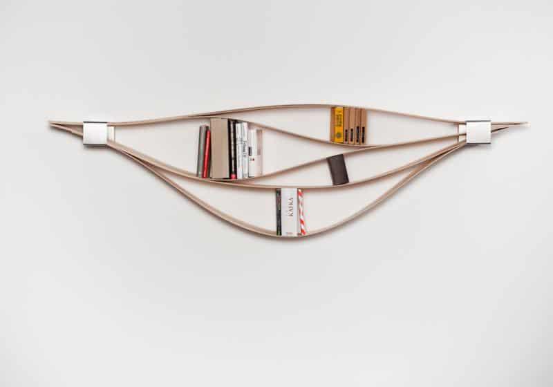 Chuck Flexible Wooden Wall Shelf by Natascha Harra-Frischkorn