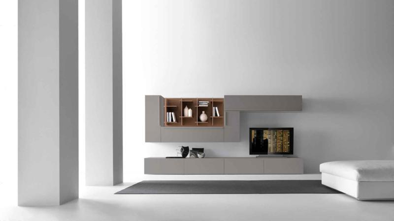 Modern Minimal Grey Color Living Room Design