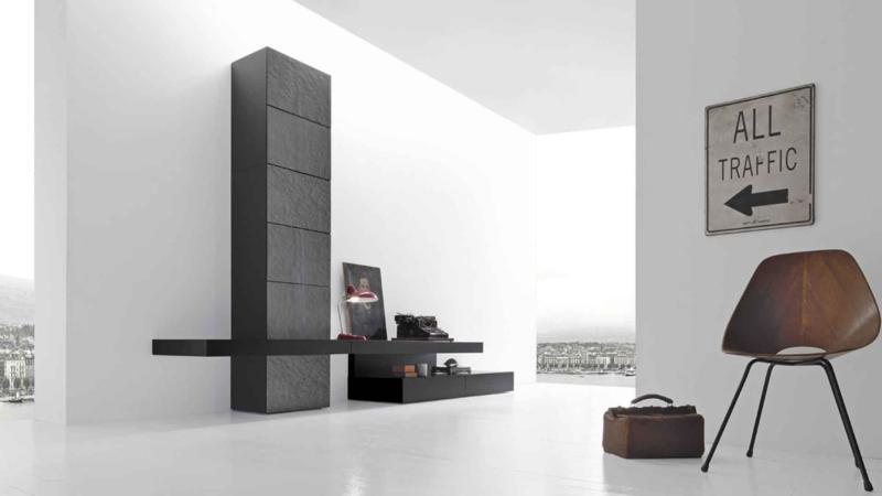 Modern Dark Living Room Furniture Design