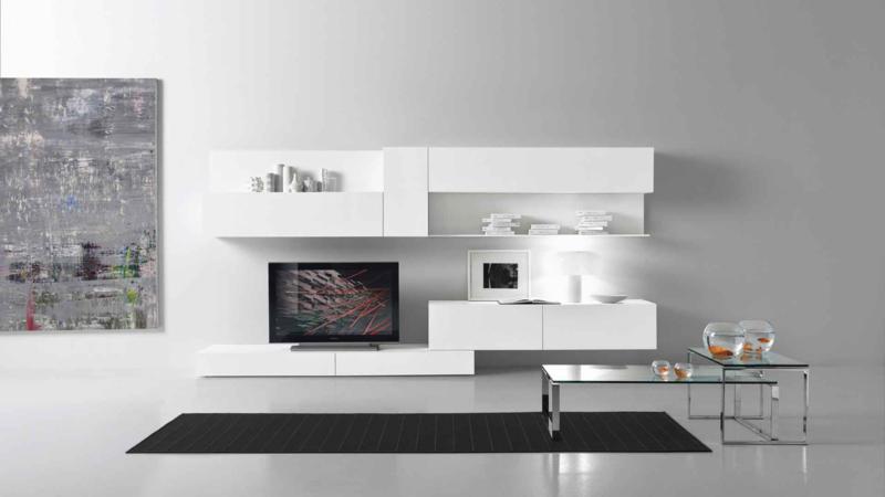 Modern White Color Living Room Furniture Design
