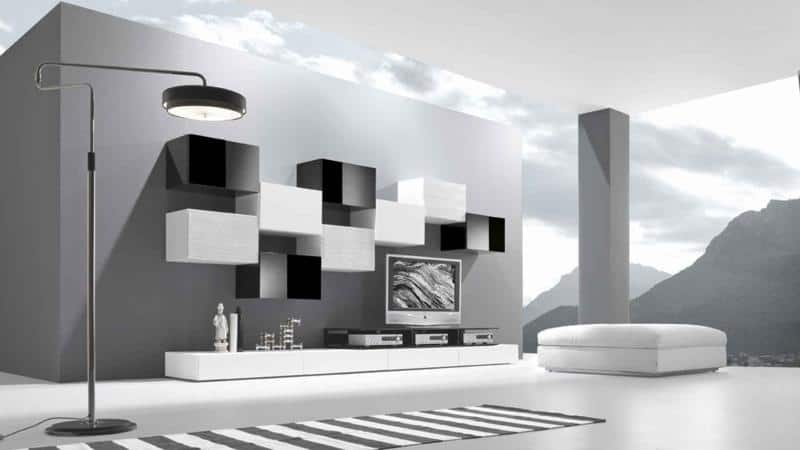 Black and White Modern Modular Living Room Furniture Design