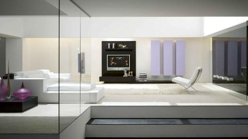 Simple Living Room Furniture Design with TV