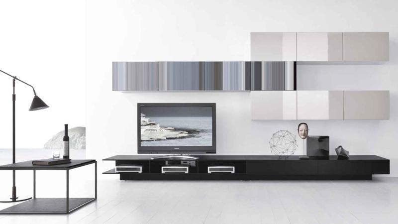 Modern Black and White Color Living Room Furniture Design