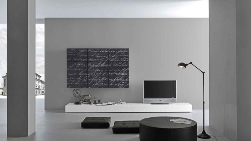 Minimal Black and White Living Room Design