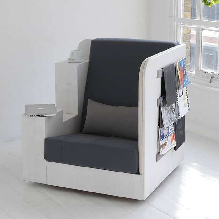 OpenBook Reading Seat and Library by TILT