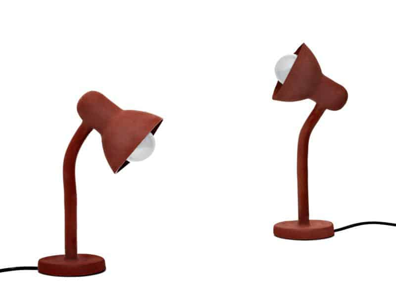 Rubber Table Lamp by Thomas Schnur
