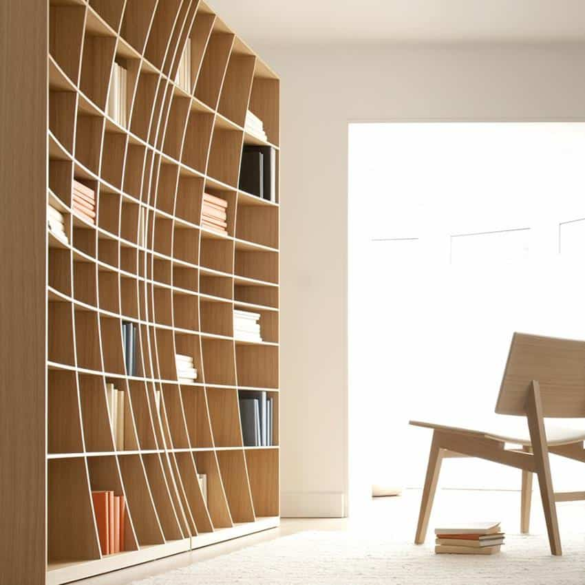 Concave Bookcase by Simon Pengelly for Joined + Jointed