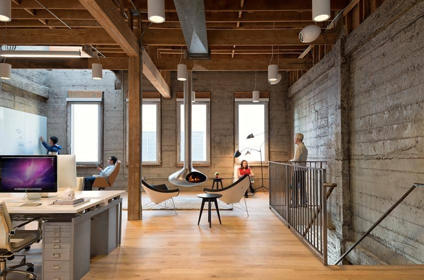 Modern Office Interior with Vintage Theme