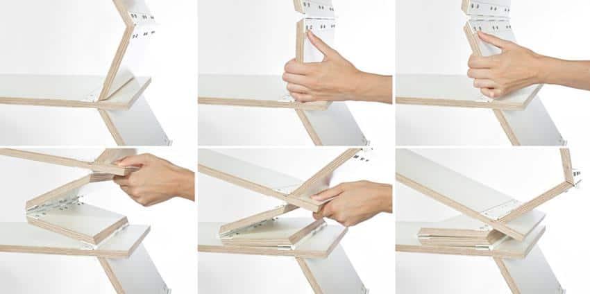 Stockwerk Foldable Shelf by Meike Harde