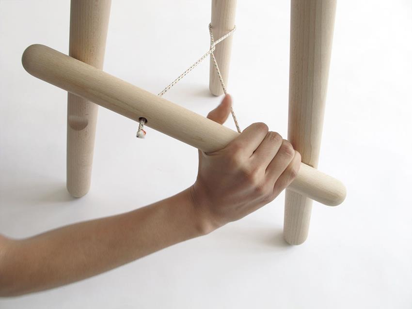 Tubabu Stool by Martín Azúa