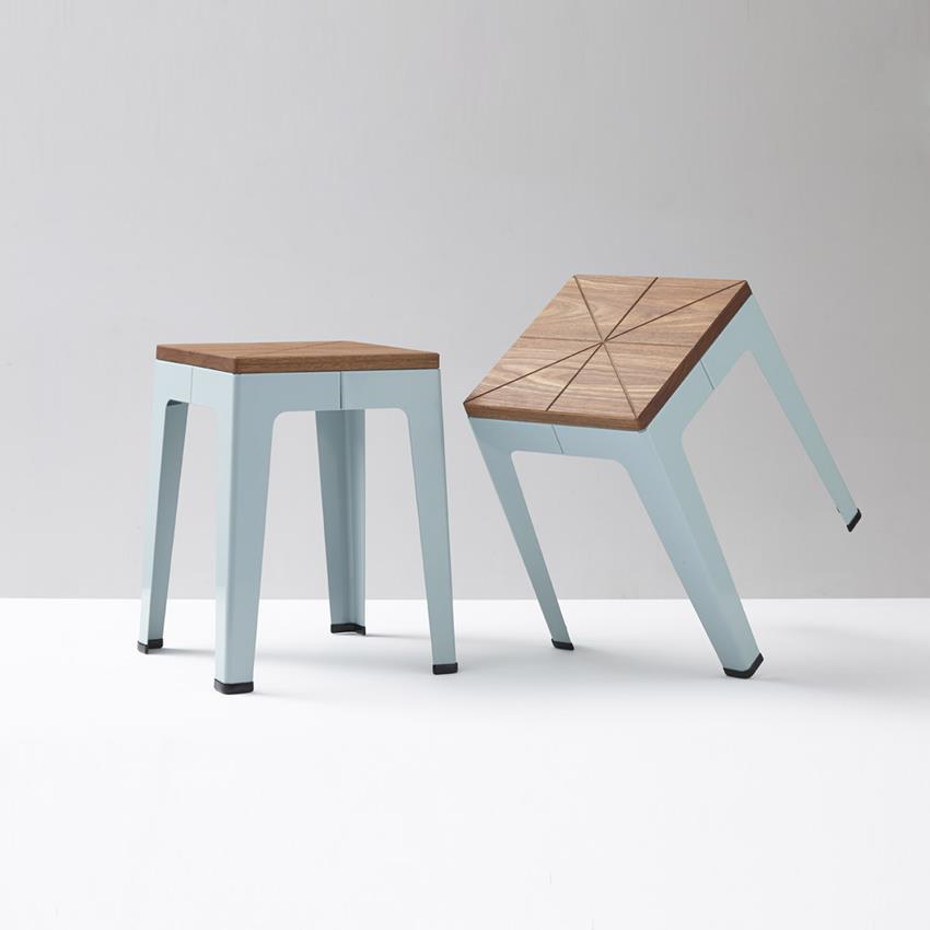 Timber Tuck Stool by Nicholas Karlovasitis & Sarah Gibson
