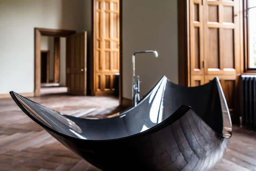 Vessel Freestanding Carbon Fiber Bathtub and Wash Basin