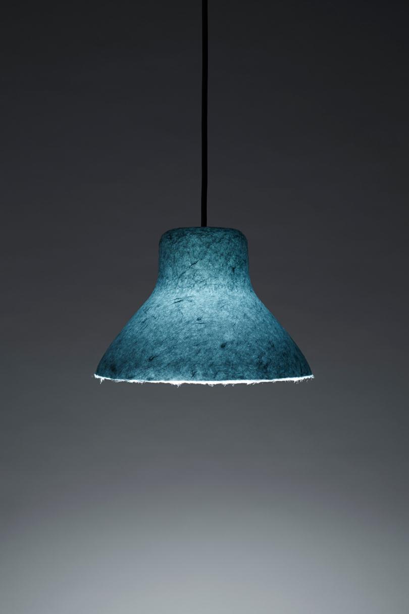 Bi-Color Washi Lamp by Nendo