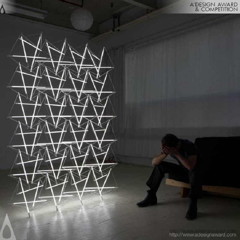 Tensegrity Space Frame Light by Michal Maclej Bartoslik