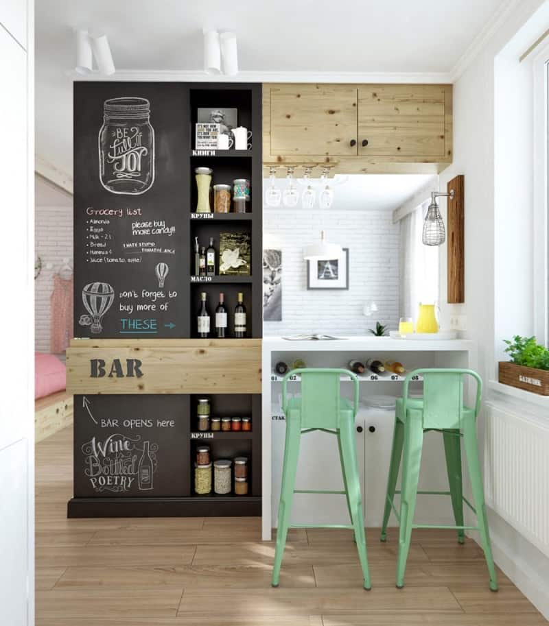 small comfortable apartment in pastel tones2