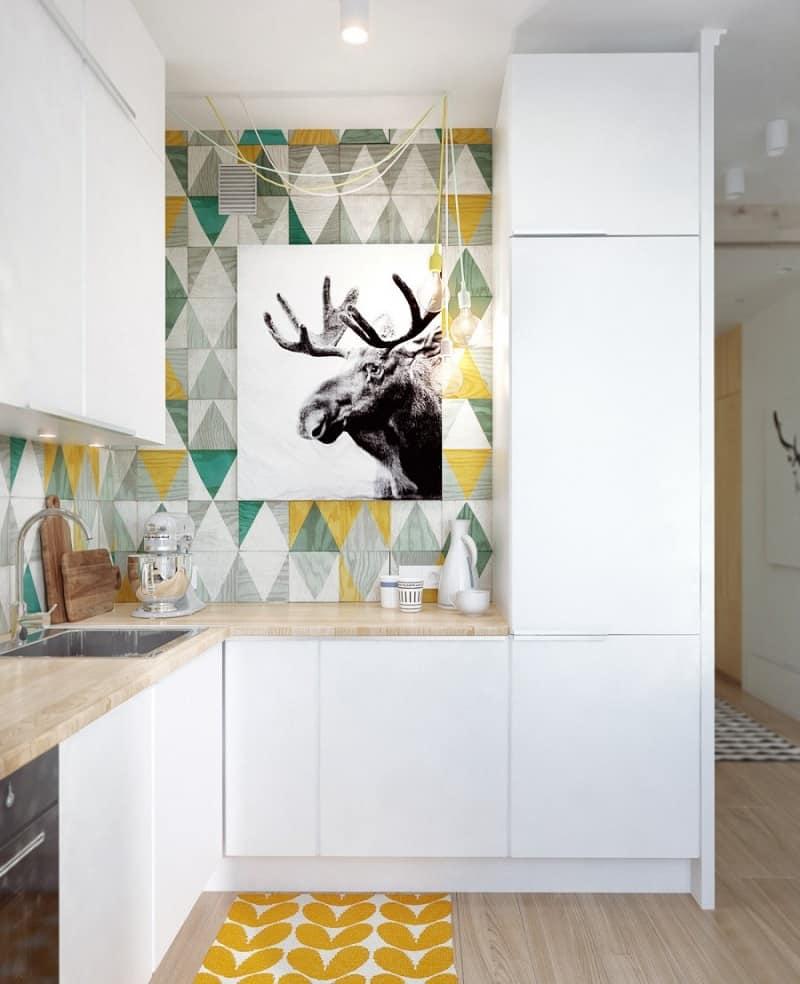 small comfortable apartment_in pastel tones