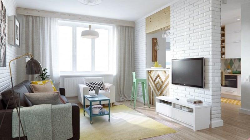 small_comfortable apartment in pastel tones