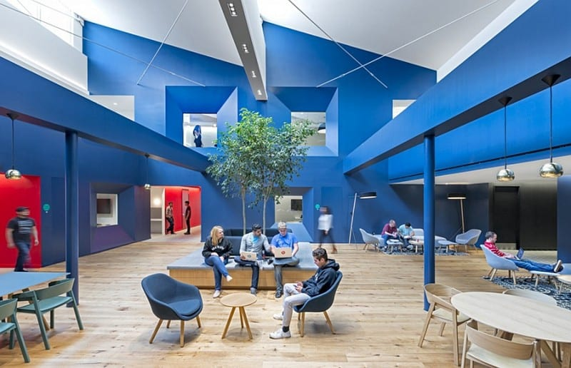 Offices that allow greater interaction between employees