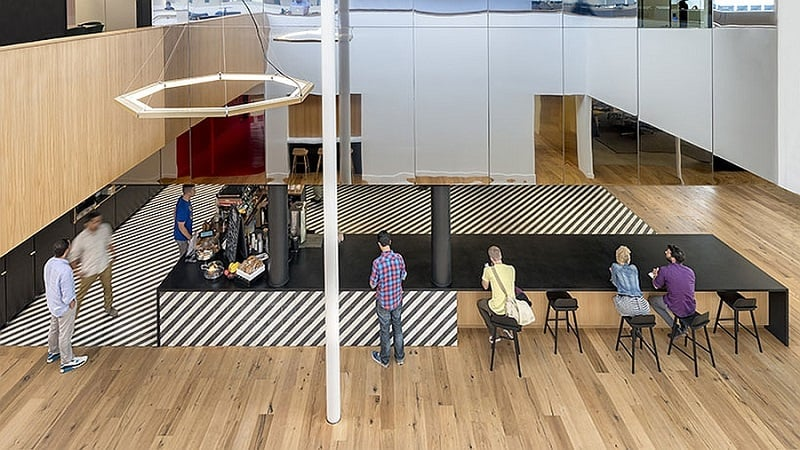 Offices that allow greater interaction between employees10