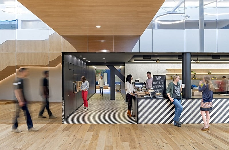 Offices that allow greater interaction between employees2