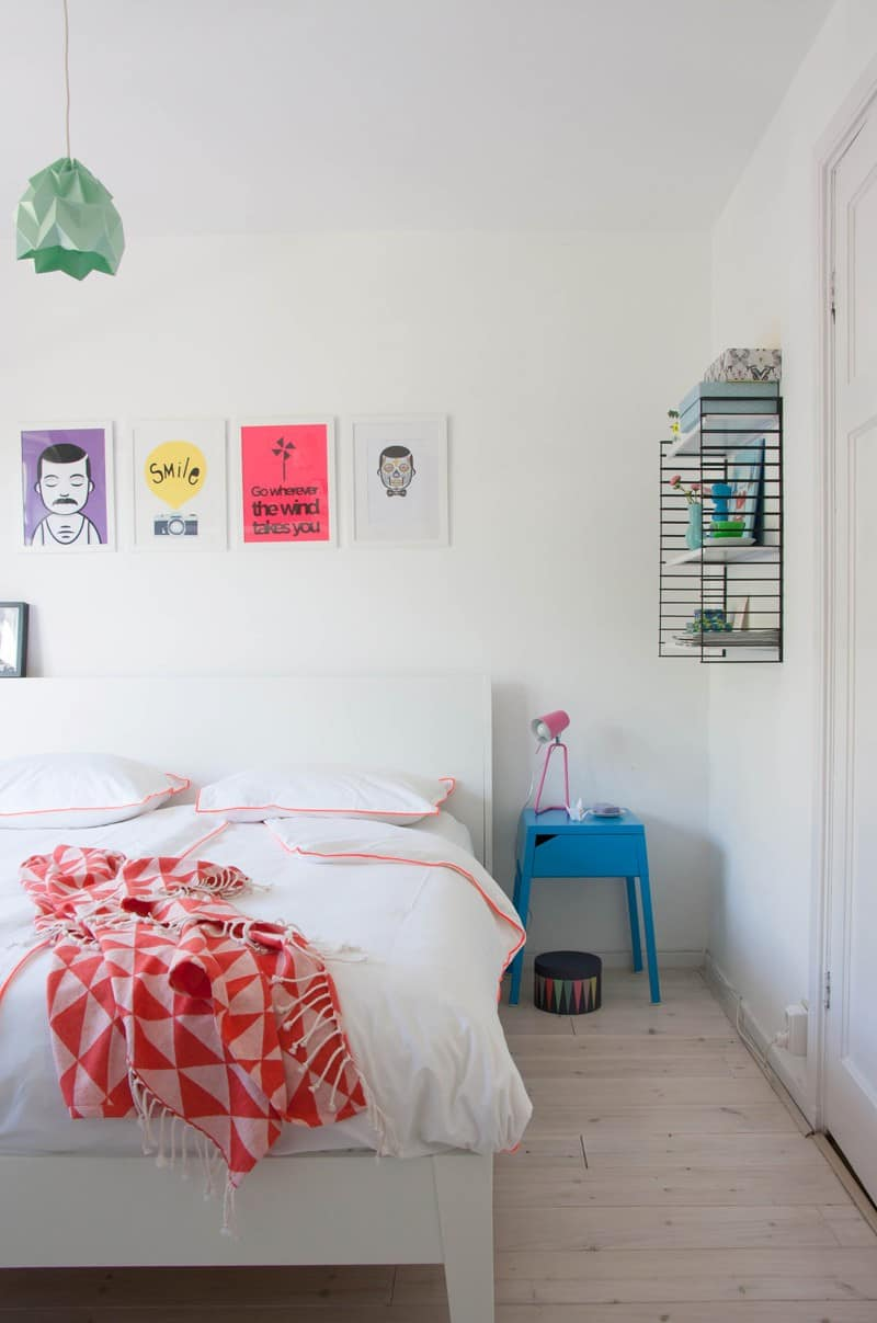 Cheerful and minimalist Dutch bedroom